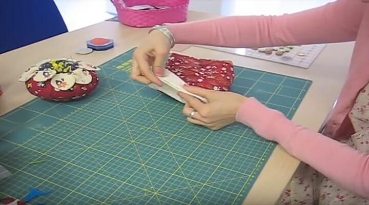 coser el agujero del neceser