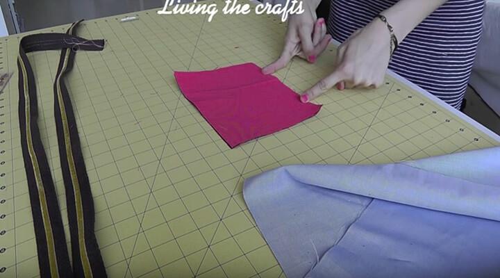 coser tela para bolsillo del tote bag