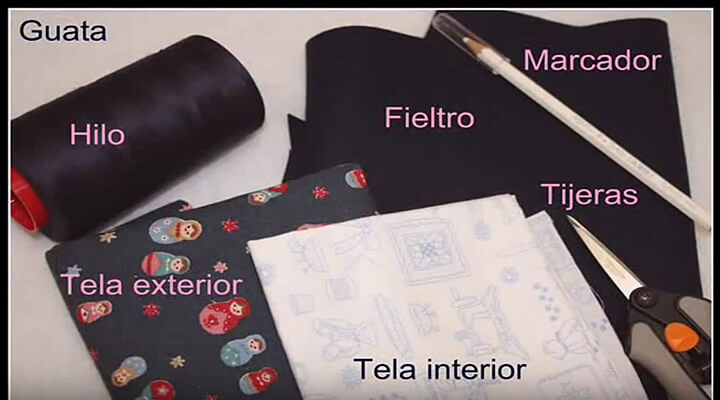 materiales para la cartera guarda agujas