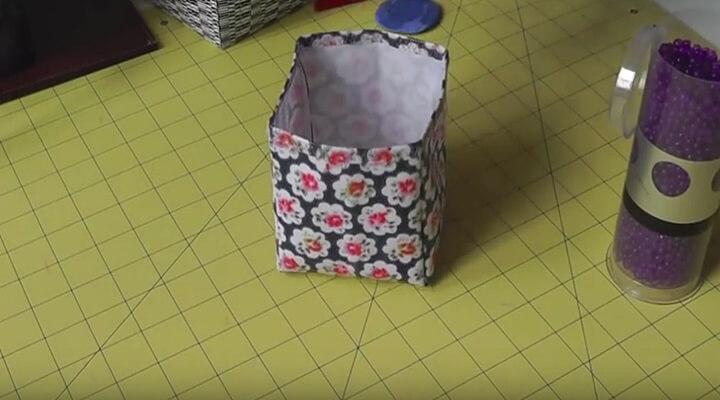 cesta de tela plastificada armada