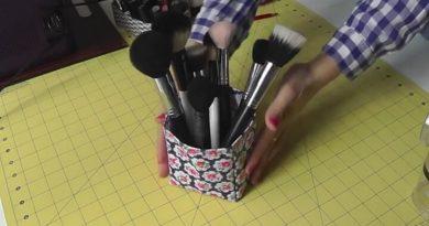 tutorial cesta de tela plastificada