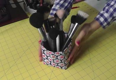 Como hacer cesta de tela plastificada