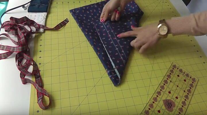 tutorial bolsa multiusos- coser marca en el frente