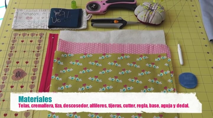 tutorial neceser vasilette - materiales