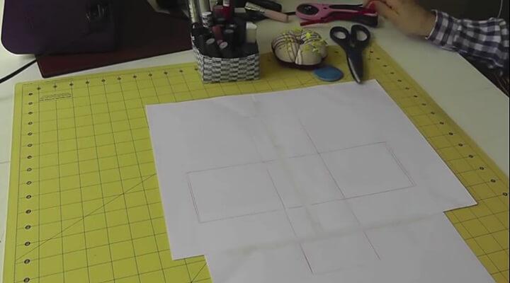 cesta de tela plastificada - patrón