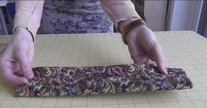 tutorial de lazo doble - tela planchada